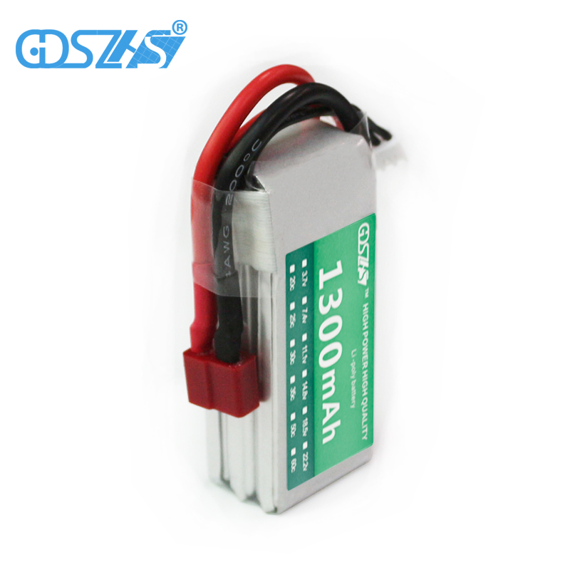 GDSZHS Rechargeable 3S Lipo Battery 11.1V 1300mAh 25C-30C For FPV RC Helicopter Car Boat Drone KT Plate Quadcopter