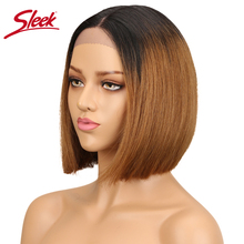 Sleek Peuvian Straight Lace Front Human Hair Wigs For Black
