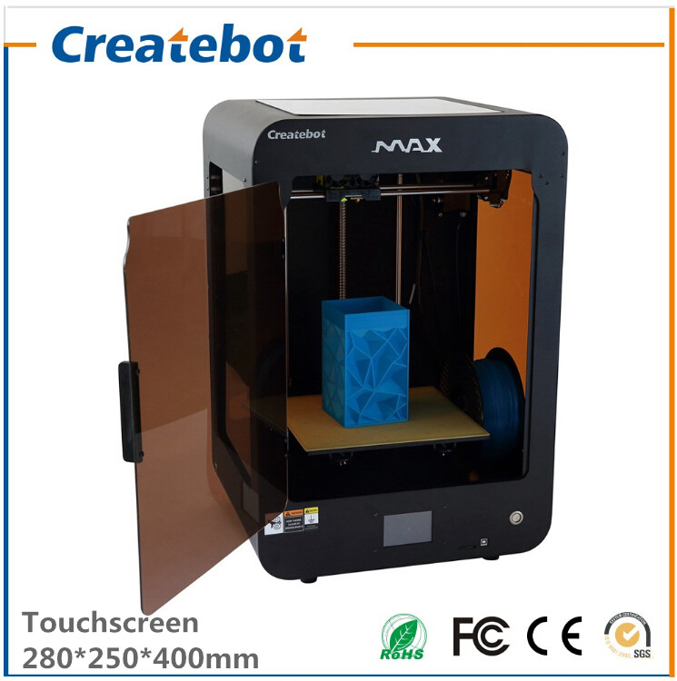 Hot Selling High Resolution Creative Single/Dual Extruder Createbot MAX large 3D Printer with 1 Roll Filament  Free SD Card hot sale wanhao d4s 3d printer dual extruder with multicolor material in high precision with lcd and free filaments sd card
