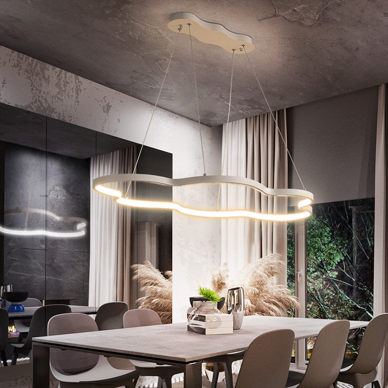 New Ideal Modern Led Pendant Lights for Living Room Dining Room Bedroom Home Deco Hanging Pendant Lamp Fixtures White or Black
