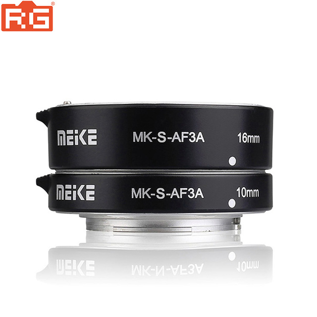 Meike MK S AF3A Metal Auto Focus Macro Extension Tube 10mm 16mm for Sony Mirrorless a6300 a6000 a7 a7SII NEX E Mount Camera