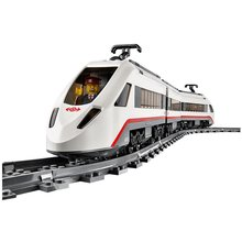 DIY LEPINES City Trains High-speed Passenger Train Building Blocks Sets Bricks Model Kids Toys Christmas present for kids