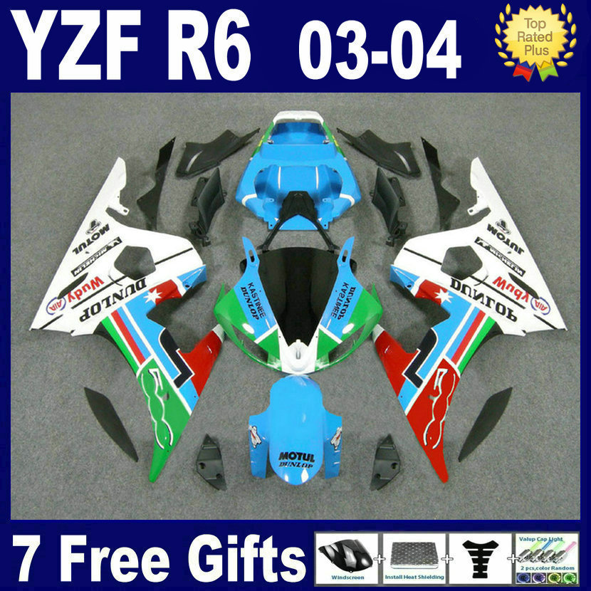 Customize OEM Race Road motorcycle fairing kits For Yamaha YZF R6 2003 2004 2005 plastics YZFR6  04 03 aftermarket fairings body road race motorcycle fairings kit for yamaha r6 2003 2004 2005 yzf r6 03 04 05 black silver fairing kits bodywork part