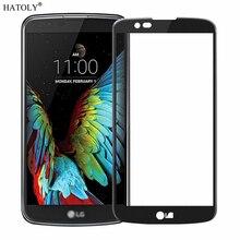 1 adet temperli cam için LG K8 ekran koruyucu için LG K8 tam kapak LG K8 Lte K350 K350E k350N 4G 3D kavisli kenar filmi HATOLY