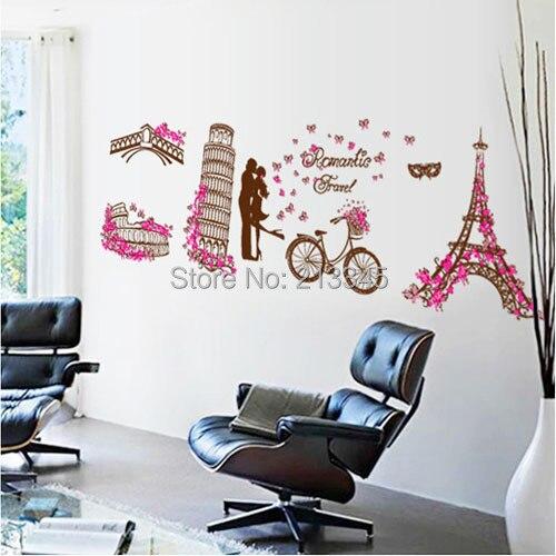 Compra rosa decoraci n de par s online al por mayor de for Cuartos decorados de la torre eiffel