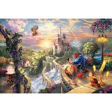 Diamond Embroidery Beauty Beast Cross Stitch art rhinestones Painting DIY Mosaic Pattern JS537
