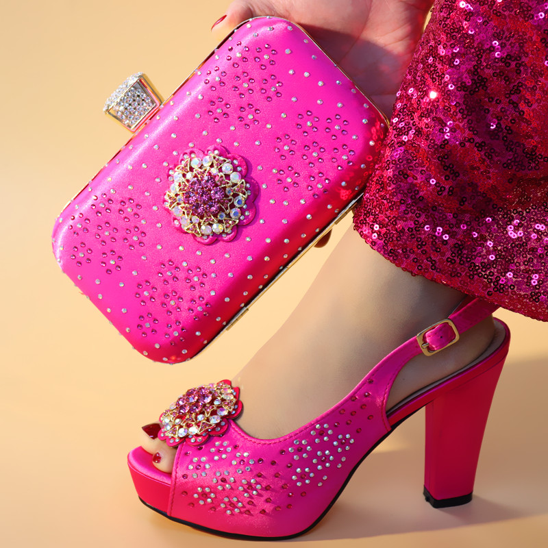 Latest Fuchsia Color Nigerian Party Shoe and Bag Sets Italian Shoes with Matching Bags for Wedding Italy Party Shoes and Bag SetLatest Fuchsia Color Nigerian Party Shoe and Bag Sets Italian Shoes with Matching Bags for Wedding Italy Party Shoes and Bag Set