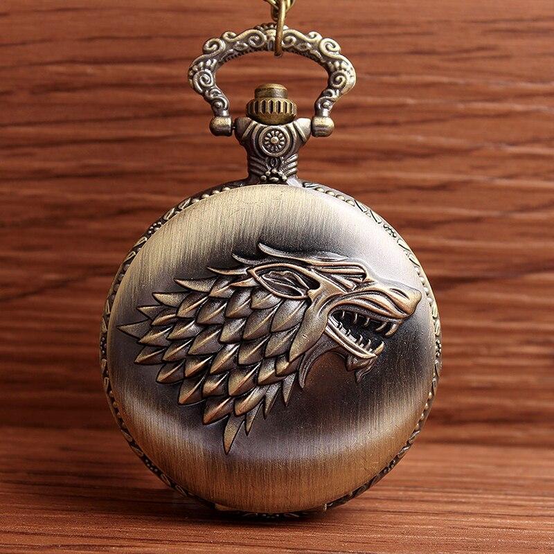 2017 Game of Thrones Stark Winterfell Wolf Medaillon Quartz - Zakhorloge - Foto 2