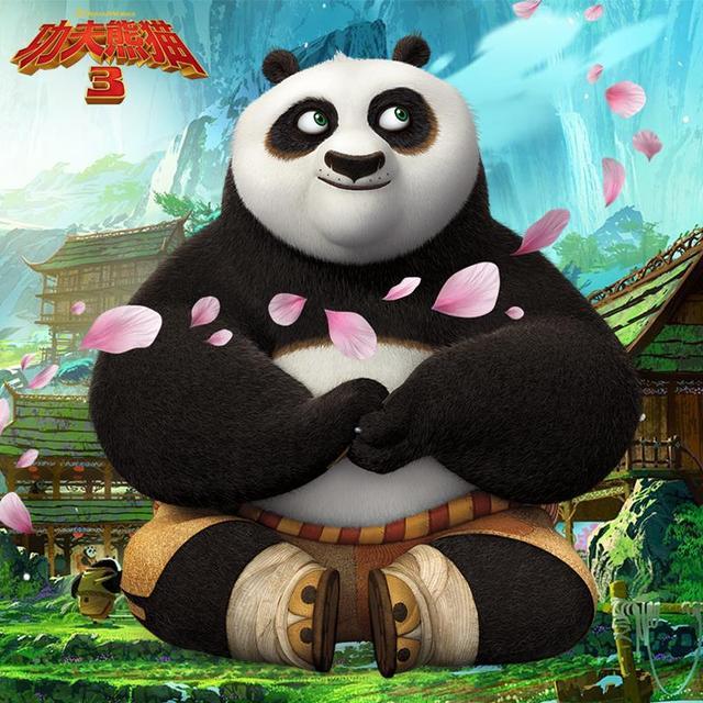 2017 New Hot Kung fu Panda Po 3 Sitting Plush Toys Large