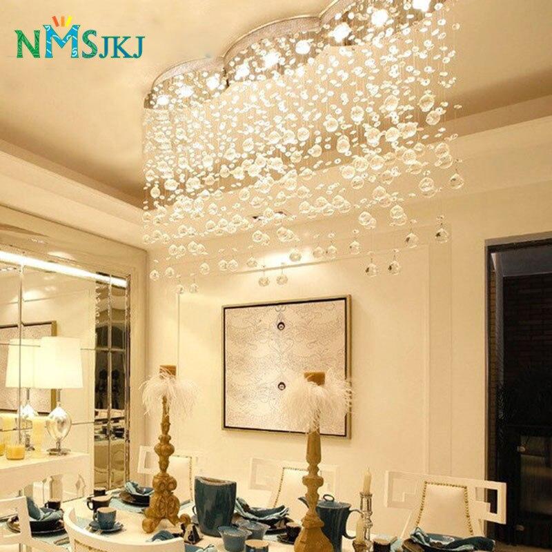Grand lustre en cristal moderne de vague de rideau rectangulaire allumant pour le Hall d'hôtel