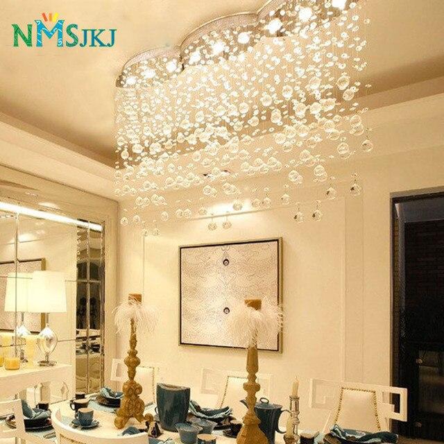 Grande E Moderno Rettangolare Onda Tenda Lampadario Di Cristallo Di  Illuminazione Per Hotel Hall Sala Da