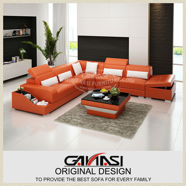 Ganasi Sofa Set Designs And Prices U Shape Leather Sectional Sofas