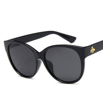 Oval Sunglasses Brand Women's Sunglasses Luxury Eyewear Elegant Vintage Ladies Sunglasses for Women Small Bee retro sunglasses