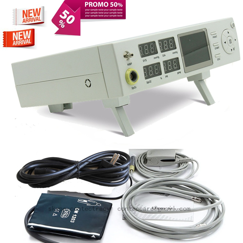 Vitale Monitor Paziente con Built-In stampante termica, SPO2, NIBP, PR CMS5000C, CONTEC