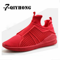 QIYHONG (7 Ye Hong) Air Mesh Fabric Men'S Vulcanized Shoes 2018 Spring Hot Fashion Breathable Men'S Shoes Mans footwear