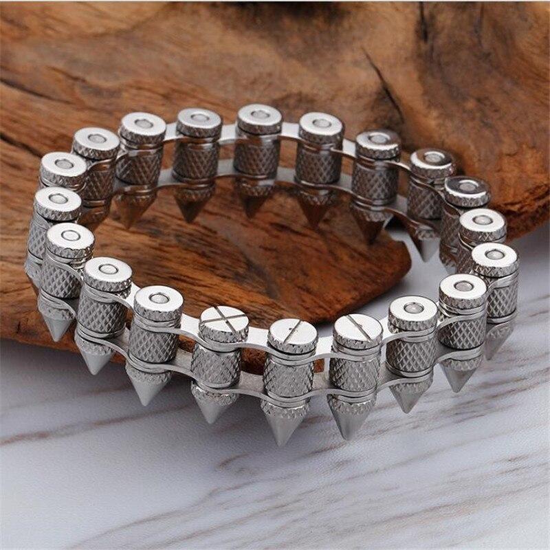 Крутой мужской большой хип хоп цепочка браслет AAAAA Cz серебряный золотой цвет вечерние юбилейный браслет для мужчин рок ювелирные изделия ши... - 4