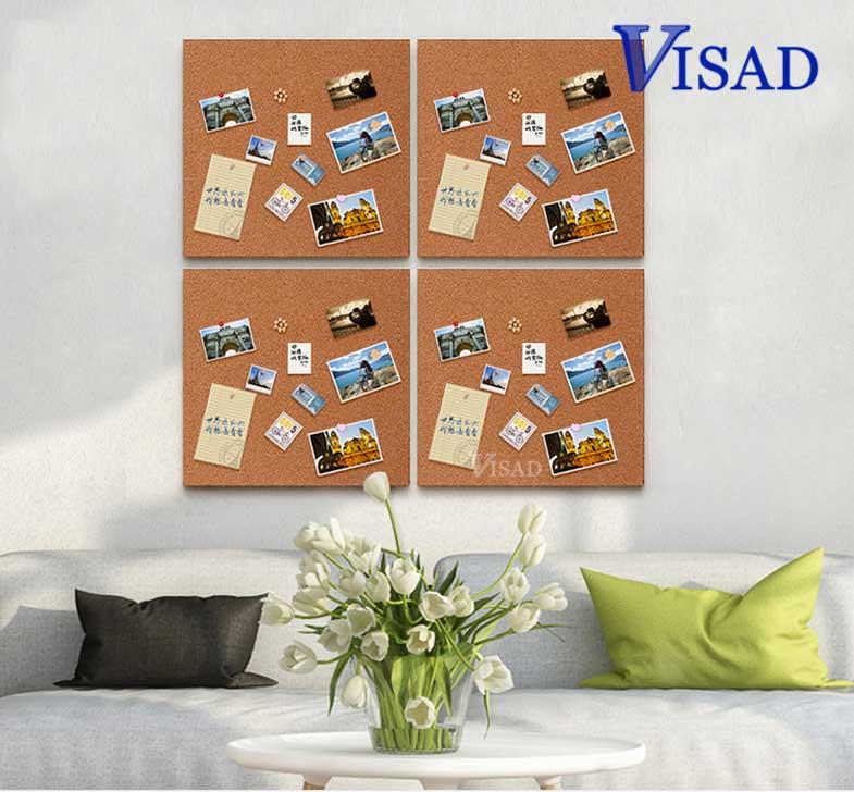 4 pcs/paquet tableau en liège brun tableau d'affichage 4 pièces tableau d'affichage en liège Style d'ongle tableau d'affichage 30*30 cm