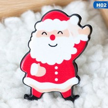New Christmas Gift Pin Brooches Santa Claus Snowman Elk Pin For Kids T Shirt Sweater Coat Scarf Hat Decor(China)