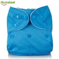 [Mumsbest] Reutilizáveis Fralda de Pano Do Bebê Cor Sólida lavável Baby Fraldas de Pano Fraldas Tamanho Único Ajustável Muitas Cores Disponíveis