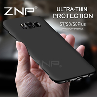ZNP Ultra Thin Silicone Soft TPU Cover Cases For Samsung Galaxy S6 S7 Edge S8 Plus