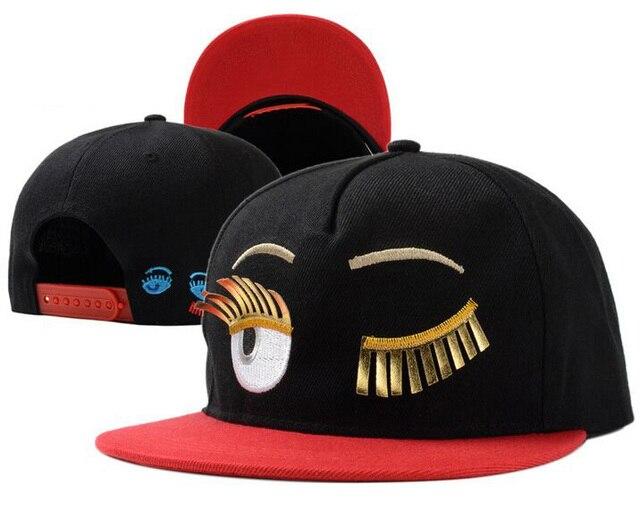 b756c1c3ea1 Unisex Fashion Baseball Caps Supreme Patchwork Hiphop Eyelash Snapback Flat  Brim Canvas Hat Woman Unique Visor Snapback Hats