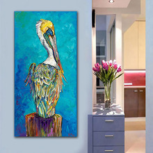 GoldLife Fashion Art Pelicans Pop Wall Canvas Painting For Living Room Wild Animals Oil Picture
