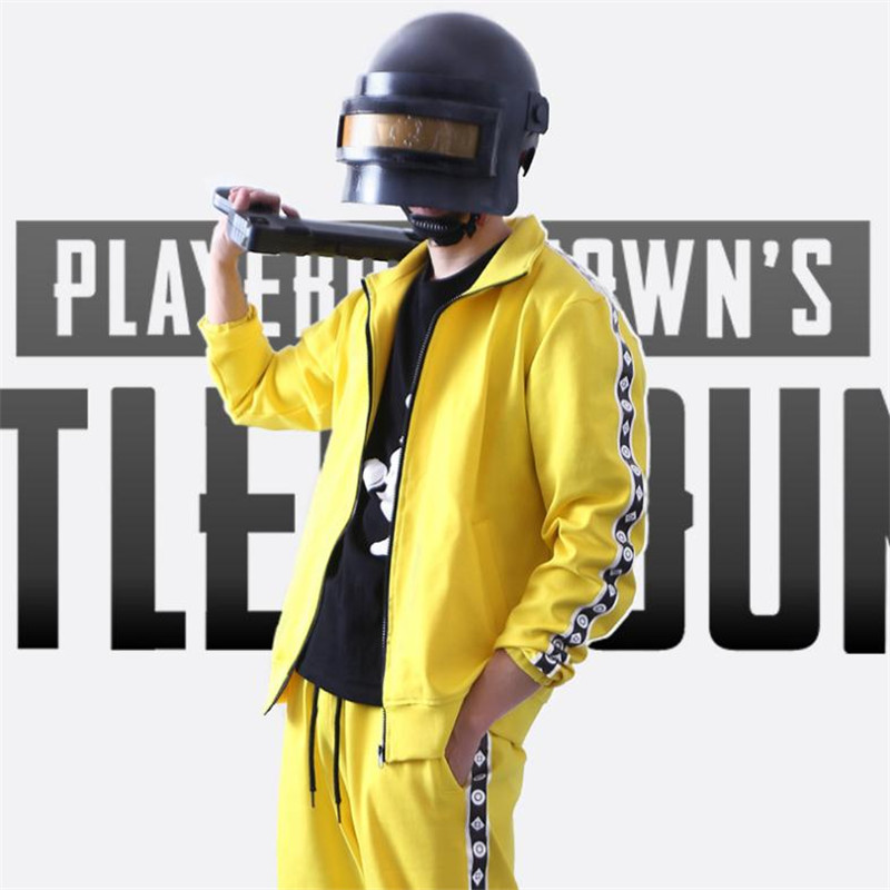 Game PLAYERUNKNOWN BATTLEGROUNDS PUBG Cosplay Costumes Yellow Jackets Helmet Suit Christmas Party Halloween Costume For Men