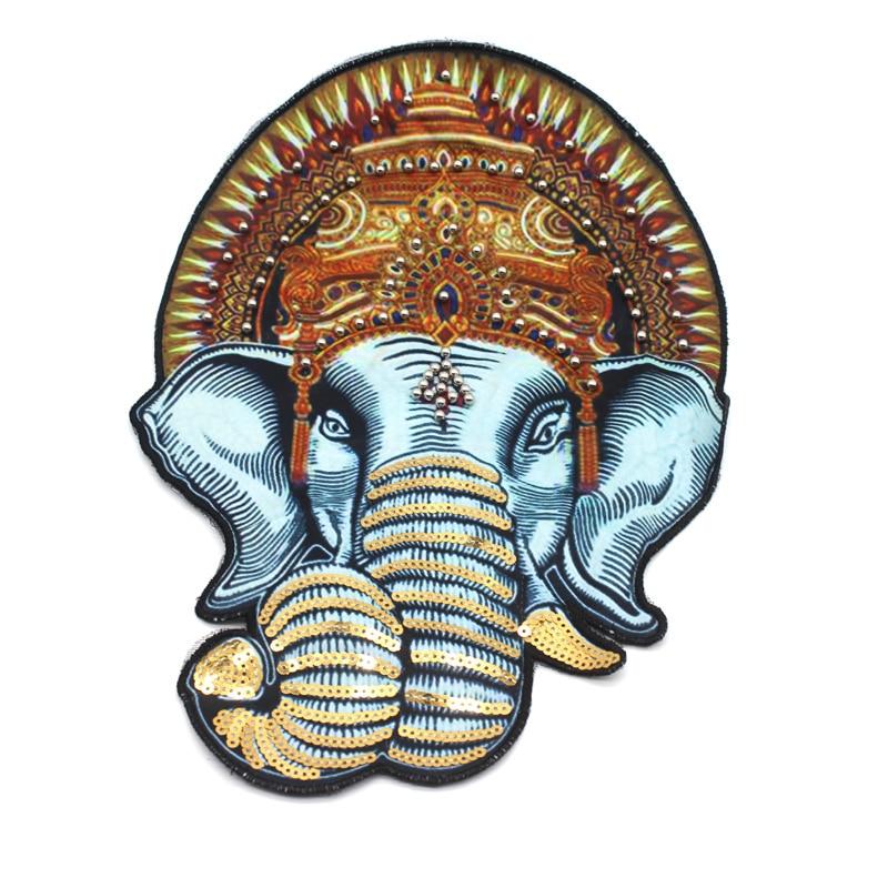 Stor djurplåstring elefantlappen Broderad sömnad på - Konst, hantverk och sömnad