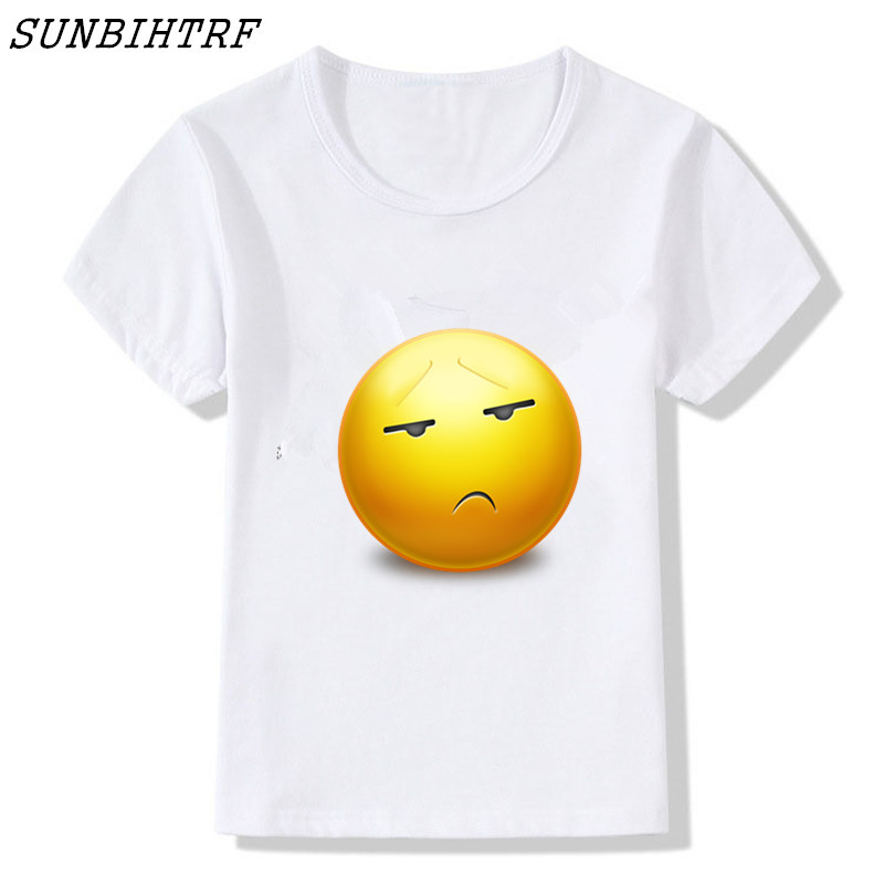 2bb31ff9 SUNBIHTRF Children Print 3D Emoji T Shirts Smiley Emotion Lovely Funny  Cartoon Kids T-Shirt Short Sleeve Tops Tee For Boys Girls