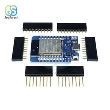 TTGO Mini ESP32 WiFi Module Board CP2104 Blue Development Board Bluetooth D1 Mini ESP8266 Module with Pins for WeMos цена