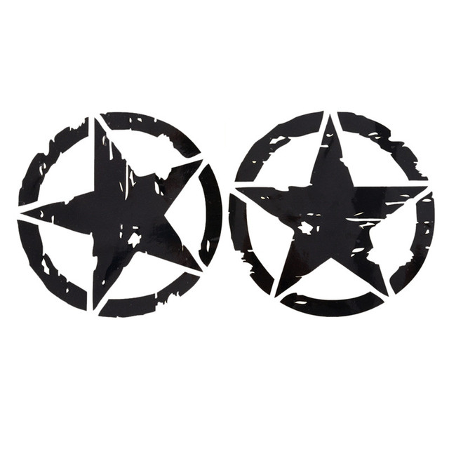 1pc 2 Colors 15cm15cm Army Star Graphic Decals Motorcycle Car
