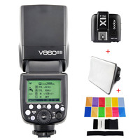 Godox Ving V860II S Speedlite TTL Flash Fast HSS For Sony A7 A7S A7R A7 II MI A6000 Camara With softbox and Filters Trigger