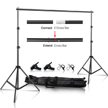 2x2M/6.5x6.5ft Photo Video Studio Backdrop Background Stand, Adjustable Telescopic Background Support System With Carry Bag 6x10ft support photo background stand 2x3m backdrop stand for photo studio accessory support eqipment fotografia
