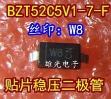 Freeshipping       BZT52C5V1-7-F  W8 1206 5.1V SOD-123 BZT52C5V1 цена