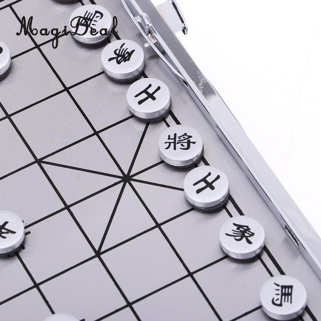 Échiquier pliable pliant jeu d'échecs chinois avec échiquier pour les Sports de Camping de voyage 5