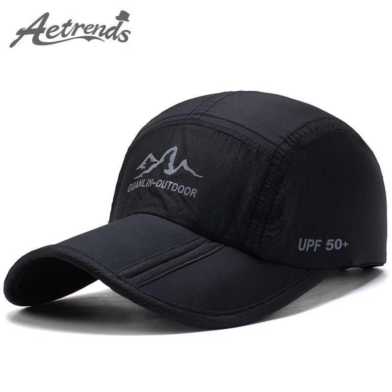 e06fec47 [AETRENDS] Ultra-Thin Quick Drying Folding Baseball Cap Men Women Summer Hat  Travel