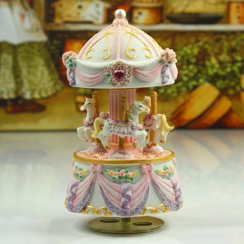 Aliexpress Com Buy Home Utility Gift Birthday Gift: Pink Carousel Music Box Birthday Gift Sweet Musica Gifts