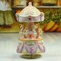 Pink carousel music box birthday gift sweet musica gifts free shipping