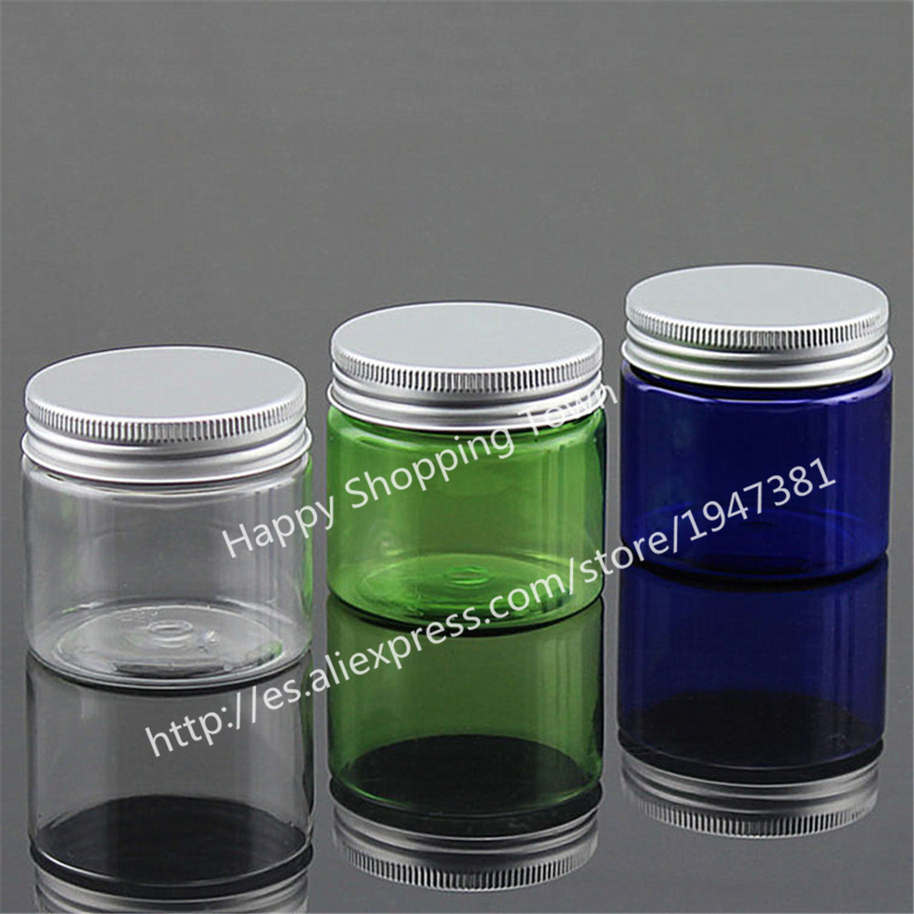 20 x 50g Colorful Cream Jar, 50cc PET Jar, Cream Bottle With Aluminum Lids, Different Size With The Previous Jar