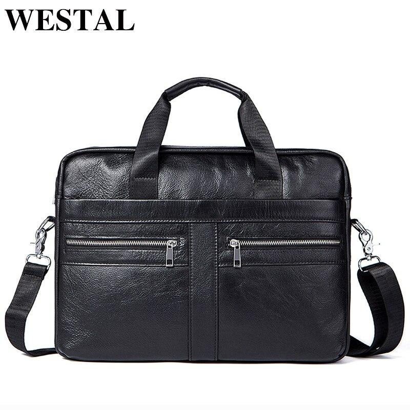 af0a76f40 Maletines de negocios WETSTAL hombre para abogado bolsa de mensajero de  cuero genuino hombres bolsos de