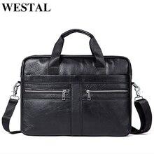 WETSTAL 비즈니스 남자 서류 가방 남자 가방 정품 가죽 메신저 가방 노트북 가방 가죽 서류 가방 남자 2019 사무실 가방