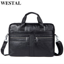 WETSTAL Business Men's Briefcases Men's Bag Genuine Leather Messenger Bags Laptop Bag Leather Briefcase Office Bags for Men 2019(China)