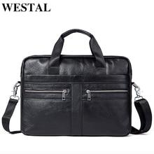 WETSTAL Business Men's Briefcases Men's Bag Genuine Leather Messenger Bags Laptop Bag Leather Briefcase Office Bags for Men 2019