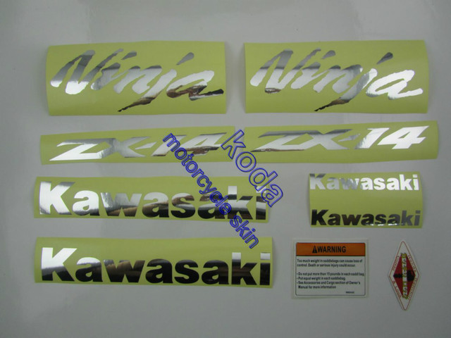 FREE SHIPPING ZX-14 ZZR1400 2006-2013 KAWASAKI decals stickers graphics set kit motorbike transfers for Complete DECALS