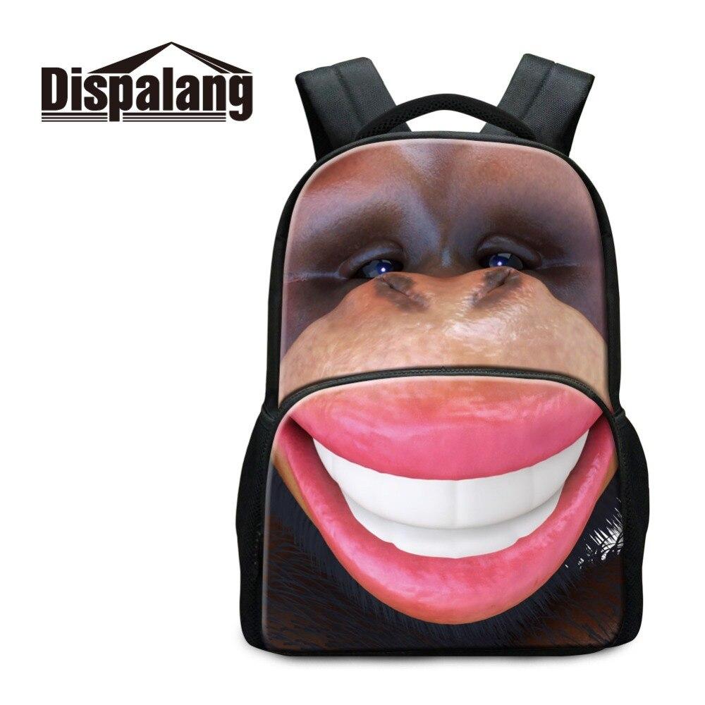 Dispalang Design Casual Backpack For Girl Animal Printed on Laptop Knapsack Computer Package for Children Rucksack for Traveling