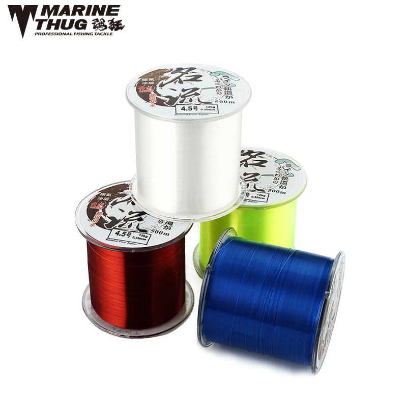 Marine Thug 500M Japan Multifilament line Fishing Nylon fishing Line 500M Material 1.0 1.5 2.0 3.0 4.0 5.0 6.0 7.0 8.0 9.0 10.0