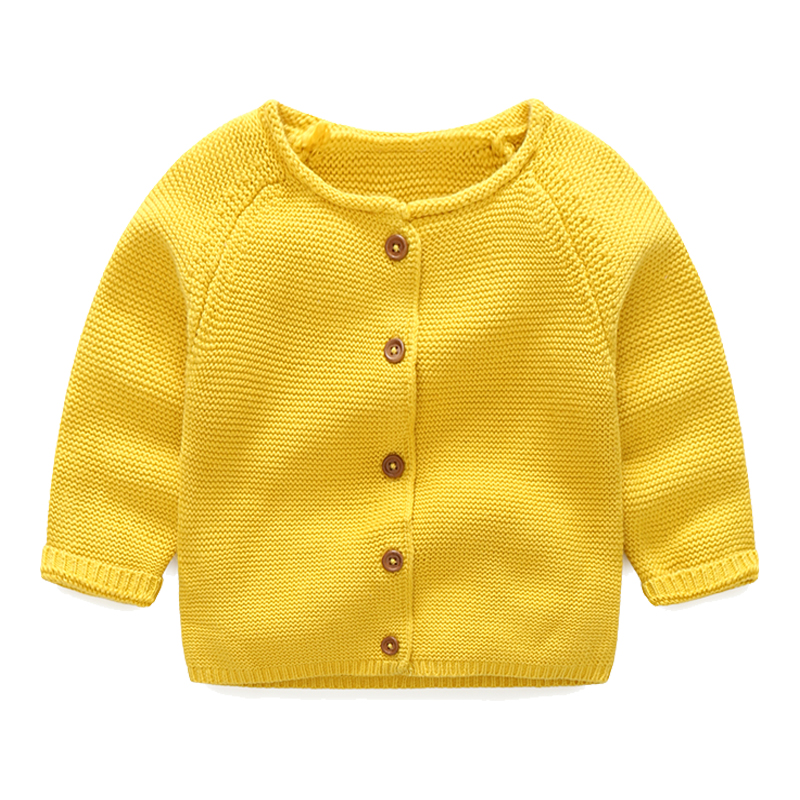 New Fashion Solid Baby Sweater Long Sleeve Baby Girls Boys Sweaters Knitted Cotton Newborn Coat Cardigan Outwear Baby Clothes fashion long sleeve solid color pockets cardigan for women