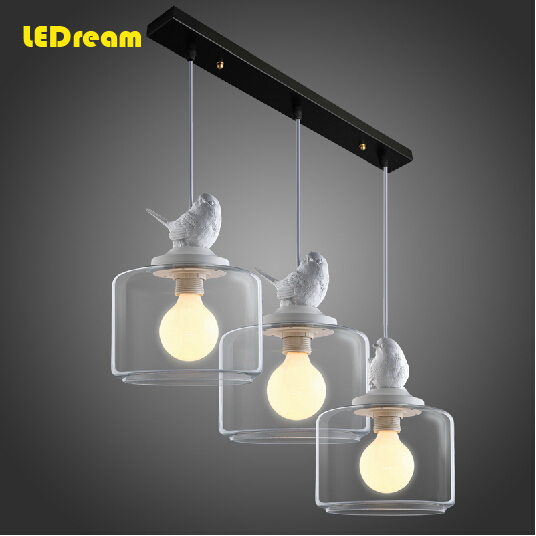 Lamps and lanterns restaurant droplight three Nordic birds droplight creative personality is t the bedroom chandeliers