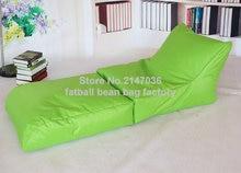 Folding bean bag chair, outdoor garden sofa beanbag set , foldable patio furniture – Green