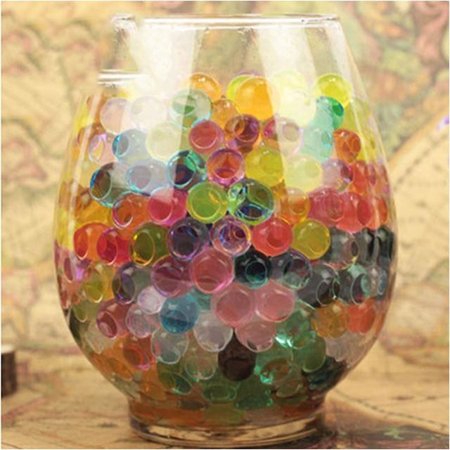 1kg Bag Pearl Black Vase Filler Shaped Crystal Soil Water Beads